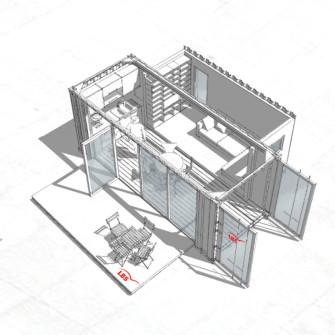 Ein konzept für LBS Bausparen. ein Mobiles Containerhaus