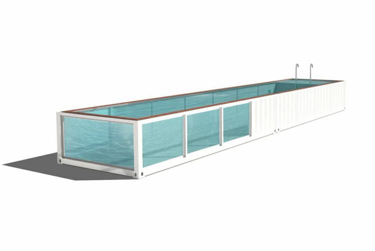 Der Containerpool gebaut mit nils klausen