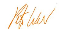 Peter Weber Unterschrift