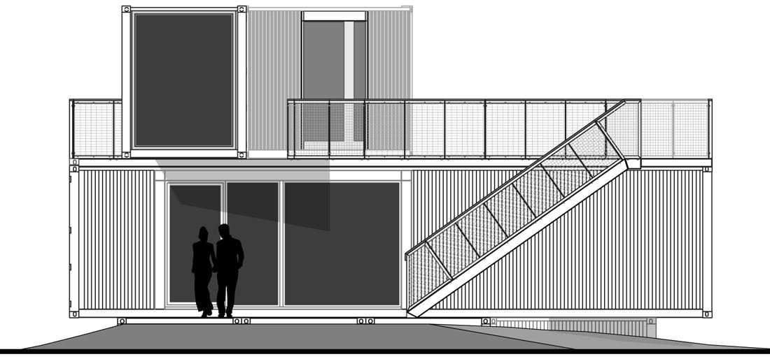 hacienda container lounge, Ägypten, summer 2012 > 2x20ft > experts ... - Container Architektur
