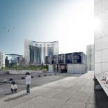 geplanntes Container Bürogebäude aus seecontainern in dresden