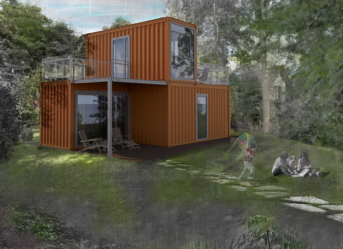 Haus Container büro minimal houses 2x20ft experts in container architecture