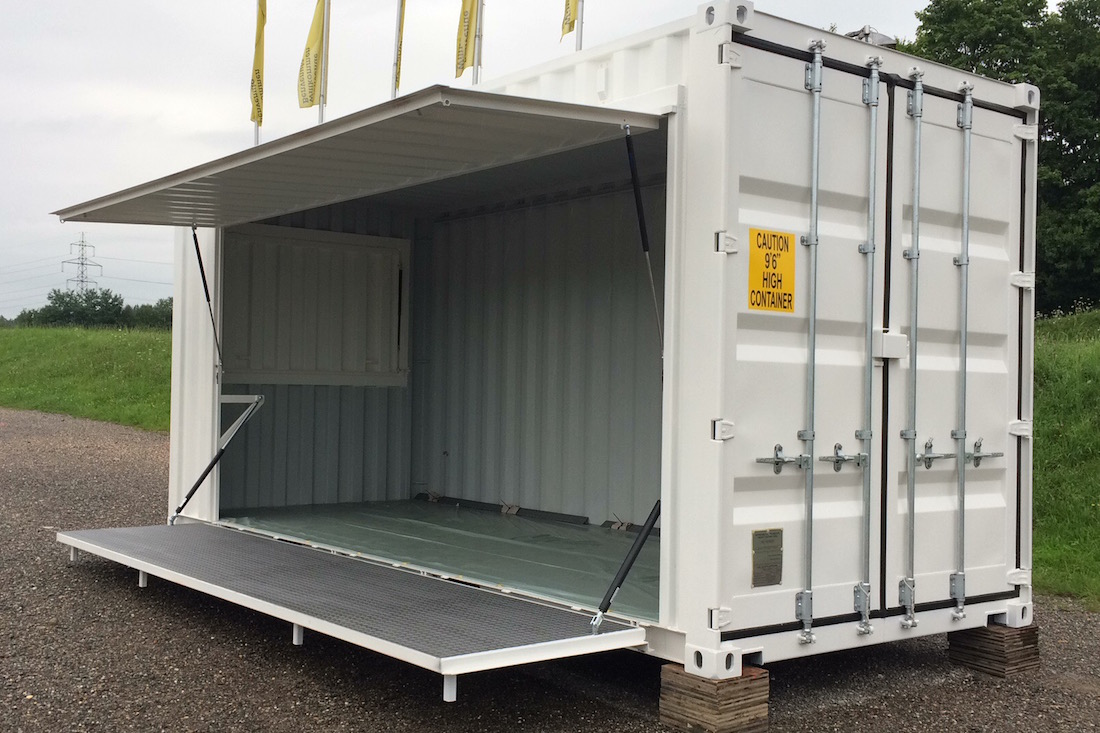 Flap Container With Side Hatch 2x20ft Experts In Container